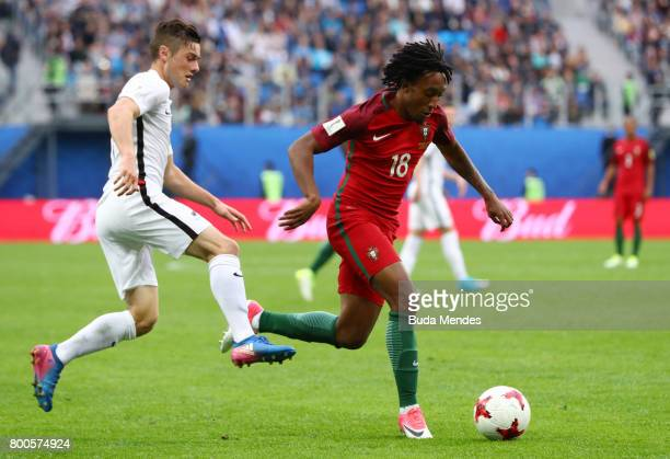 Gelson Martins of Portugal in action during the FIFA Confederations Cup Russia 2017 Group A match between New Zealand and Portugal at Saint...