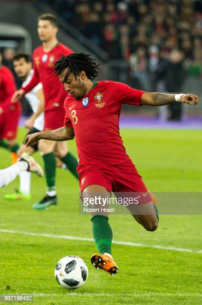 Gelson Martins of Portugal in action during the International Friendly between Portugal and Egypt at the Letzigrund Stadium on March 23 2018 in...