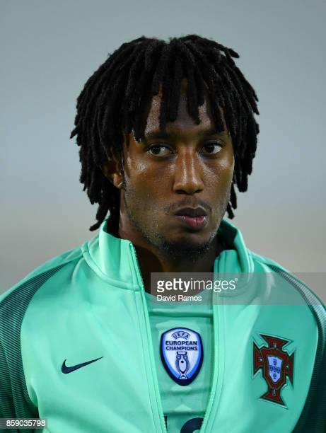 Gelson Martins of Portugal looks on prior to the FIFA 2018 World Cup Qualifier between Andorra and Portugal at the Estadi Nacional on October 7 2017...