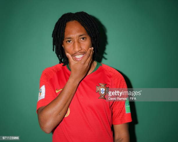 Gelson Martins of Portugal poses during the official FIFA World Cup 2018 portrait session at Saturn Training Base on June 10 2018 in Moscow Russia