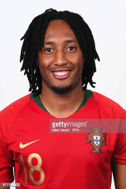 Gelson Martins of Portugal poses for a portrait during the official FIFA World Cup 2018 portrait session on June 10 2018 in Moscow Russia