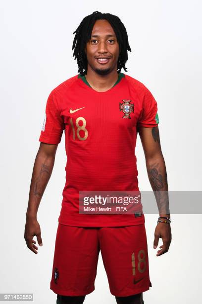 Gelson Martins of Portugal poses for a portrait during the official FIFA World Cup 2018 portrait session at the Saturn training base on June 10 2018...