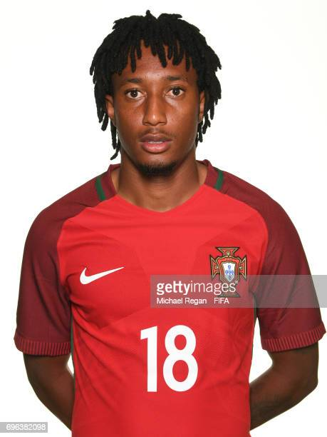 Gelson Martins poses for a picture during the Portugal team portrait session on June 15 2017 in Kazan Russia