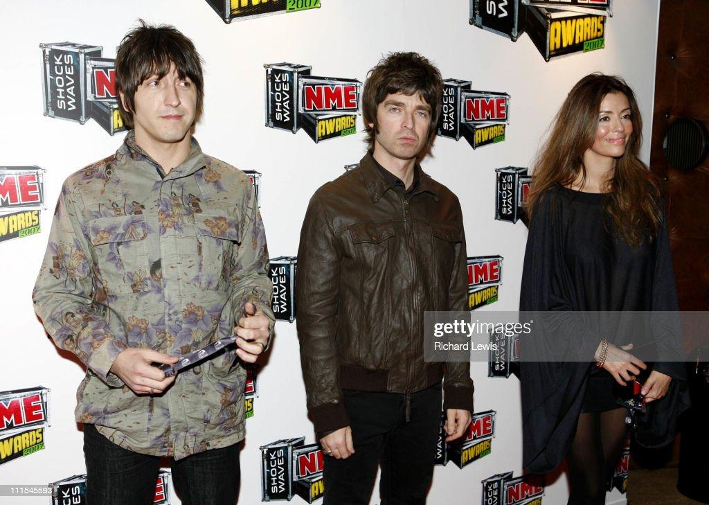 Gem Aarcher, Noel Gallagher of Oasis and Sara Macdonald arrive at the Shockwaves NME Awards 2007