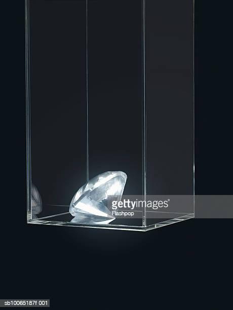 Gem in transparent box
