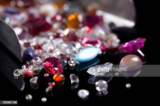 gem stones - precious gemstone stock pictures, royalty-free photos & images