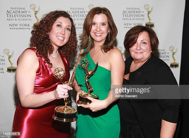 Gema De Las Heras Berenice Gartner and Norma Morato attend the 55th Annual New York Emmy Awards gala at the Marriott Marquis Times Square on April 1...