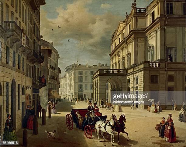 Gemaelde von Angelo Inganni . 1852]