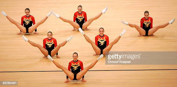 Gemany in action in the sport aerobic discipline during the World Games 2005 on July 24 2005 in Duisburg Germany