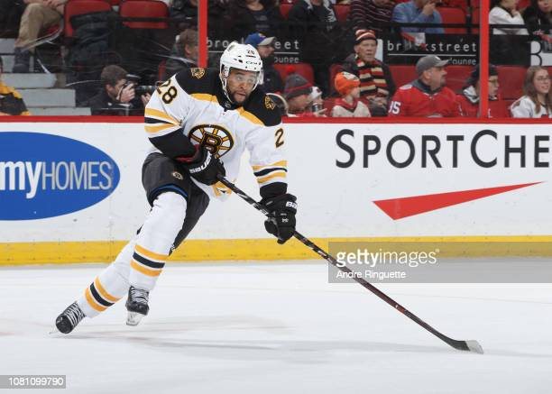 Gemel Smith of the Boston Bruins skates against the Ottawa Senators at Canadian Tire Centre on December 9 2018 in Ottawa Ontario Canada