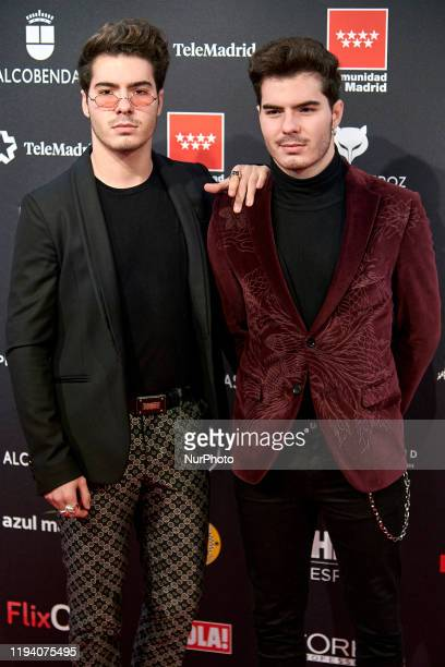 Gemeliers attends the 'FEROZ' awards 2020 Red Carpet photocall at Teatro Auditorio Ciudad de Alcobendas in Madrid Spain on Jan 16 2020