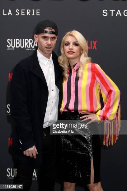 Gemello and Carlotta Antonelli attends the after party for Netflix Suburra The Series season 2 launch at Circolo Degli Illuminati on February 20 2019...