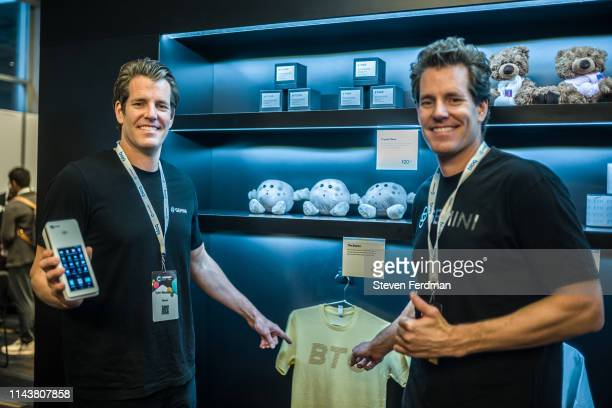 Gemini founders Cameron Winklevoss and Tyler Winklevoss attend Consensus 2019 at the Hilton Midtown on May 13, 2019 in New York City.