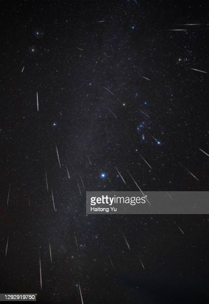 geminid meteor shower 2020 - geminid meteor shower stock pictures, royalty-free photos & images