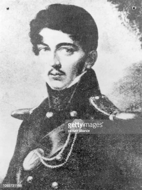 Gemälde von D. Stock 1813, Porträt in Uniform, 22 Jahre alt