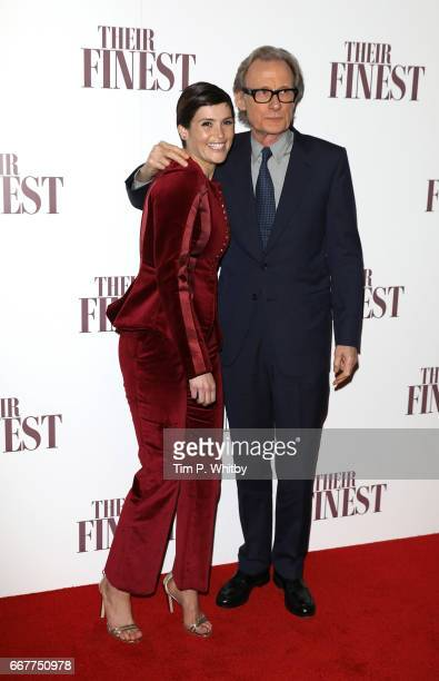 Gemma Arterton and Bill Nighy attend a special presentation screening of Their Finest at BFI Southbank on April 12 2017 in London United Kingdom