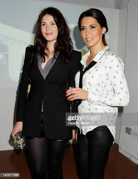 Gemma Arterton and Danielle Lineker attend the launch of 'Flight BA2012' popup hosted by Tracey Emin Richard E Grant and Heston Blumenthal in...