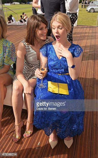 Gemma Arterton and Hannah Arterton attend day one of the Audi Polo Challenge at Coworth Park on May 30 2015 in London England