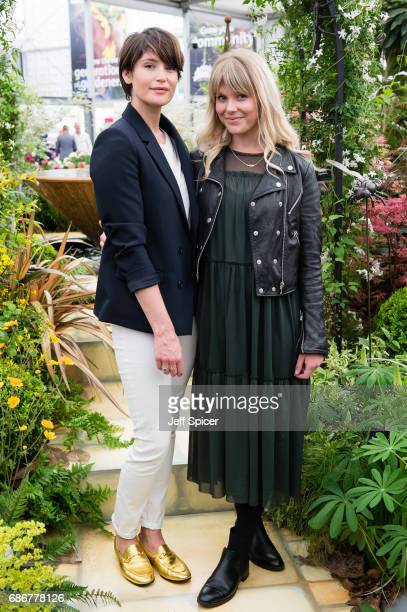 Gemma Arterton and Hannah Arterton attend RHS Chelsea Flower Show press day at Royal Hospital Chelsea on May 22 2017 in London England