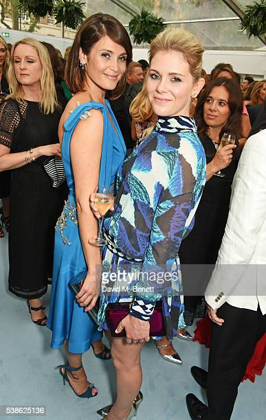 Gemma Arterton and Hannah Arterton attend the Glamour Women Of The Year Awards in Berkeley Square Gardens on June 7 2016 in London United Kingdom