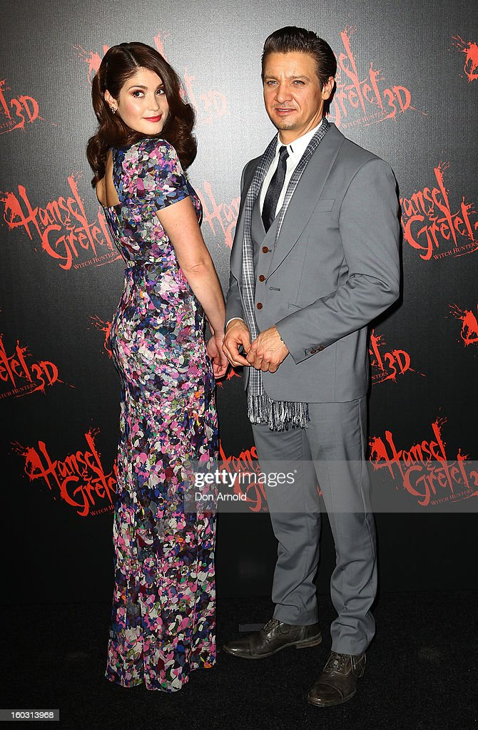 Gemma Arterton and Jeremy Renner arrive at the Australian Premiere of 'Hansel & Gretel Witch Hunters' at Event Cinemas on January 29, 2013 in Sydney, Australia.