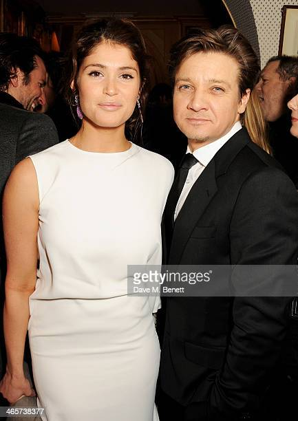 Gemma Arterton and Jeremy Renner attend the Charles Finch and Chanel PreBAFTA cocktail party and dinner at Annabel's on February 8 2013 in London...