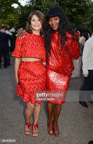 Gemma Arterton and Naomi Campbell attend The Serpentine Gallery Summer Party cohosted by Brioni at The Serpentine Gallery on July 1 2014 in London...