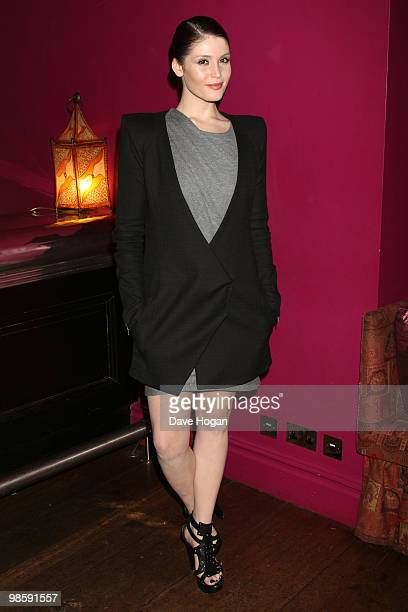 Gemma Arterton arrives at a special screening of 'The Disappearance of Alice Creed' held at the Soho Hotel on April 21 2010 in London England