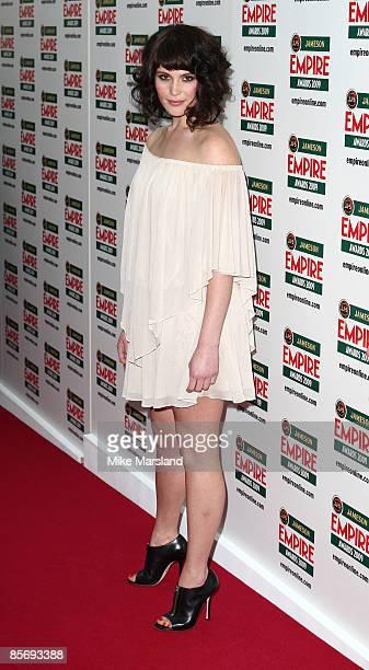 Gemma Arterton arrives at Jameson Empire Awards at Grosvenor House Hotel on March 29, 2009 in London, England.