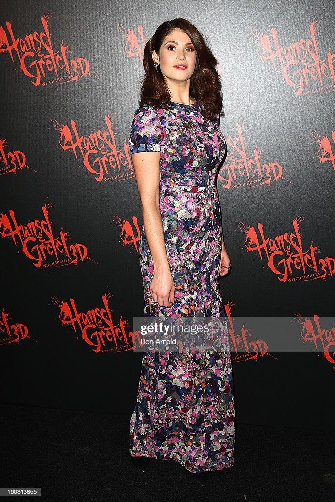 Gemma Arterton arrives at the Australian Premiere of 'Hansel & Gretel Witch Hunters' at Event Cinemas on January 29, 2013 in Sydney, Australia.