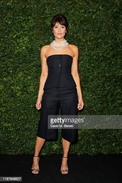Gemma Arterton arrives at the Charles Finch & CHANEL Pre-BAFTA Party at 5 Hertford Street on February 1, 2020 in London, England.