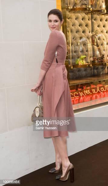 Gemma Arterton arrives at the Louis Vuitton Bond Street Maison launch on New Bond Street on May 25, 2010 in London, England.
