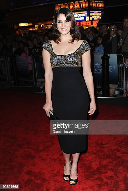 Gemma Arterton arrives for the premiere of 'The Disappearance Of Alice Creed' during the Times BFI 53rd London Film Festival at the Vue West End on...