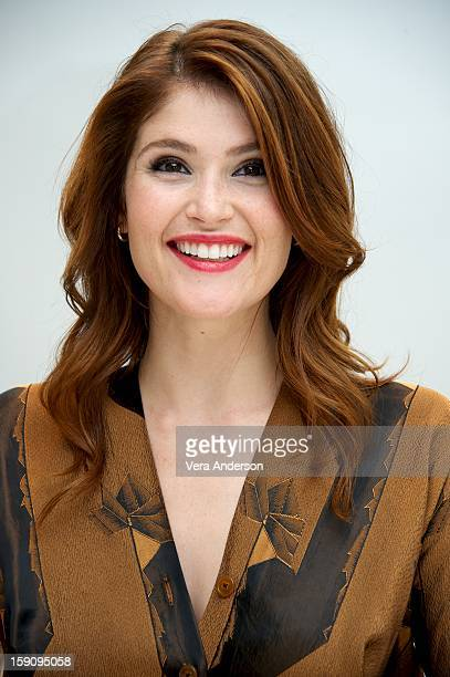 """Gemma Arterton at the """"Hansel And Gretel Witch Hunters"""" Press Conference at the Four Seasons Hotel on January 5, 2013 in Beverly Hills, California."""