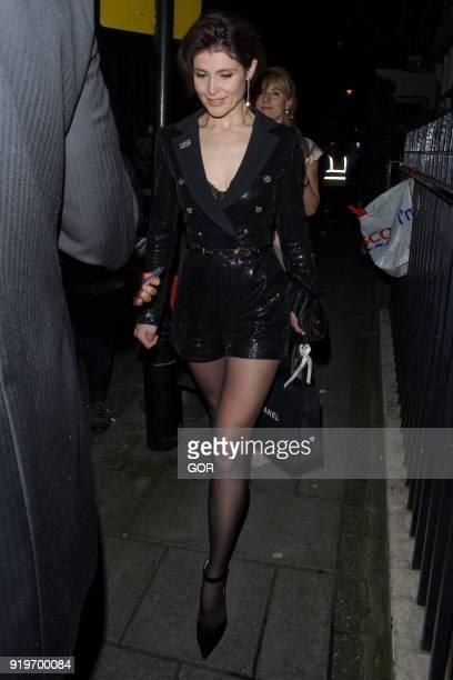 Gemma Arterton attending pre Bafta dinner at Marks Club mayfair on February 17 2018 in London England