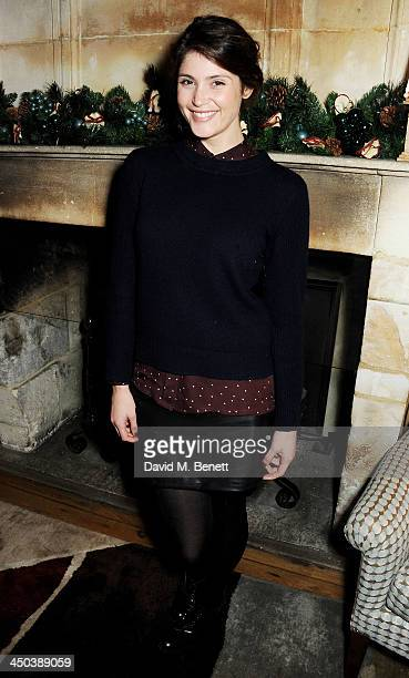 Gemma Arterton attends a private screening of Saving Mr Banks hosted by Lily Allen at the Charlotte Street Hotel on November 18 2013 in London England