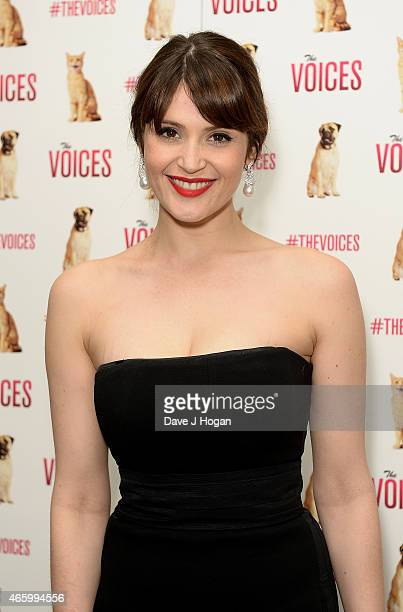 Gemma Arterton attends a special screening of 'The Voices' at Hackney Picturehouse on March 12 2015 in London England