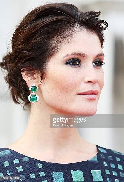 Gemma Arterton attends a UK Premiere of 'Gemma Bovery' at Somerset House on August 6 2015 in London England