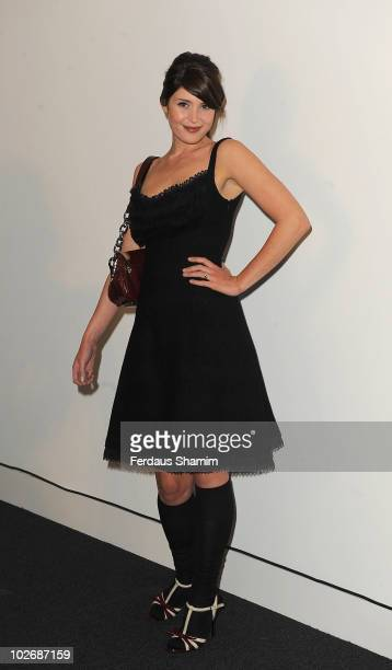 Gemma Arterton attends the 10th Birthday party for Net-A-Porter at Westfield on July 7, 2010 in London, England.