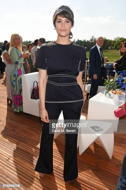 Gemma Arterton attends the Audi Polo Challenge at Coworth Park on May 7 2017 in Ascot United Kingdom