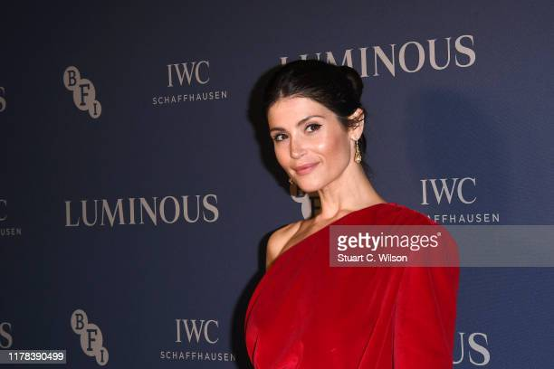 Gemma Arterton attends the BFI Luminous Fundraising Gala at The Roundhouse on October 01, 2019 in London, England.