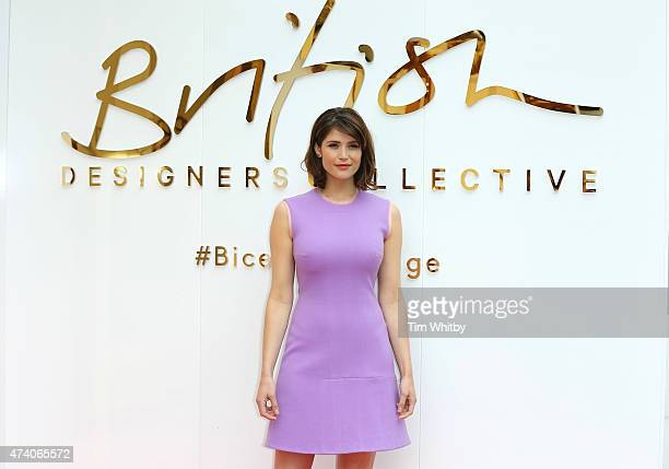 Gemma Arterton attends the British Design Collective press launch at Bicester Village on May 20 2015 in Bicester England