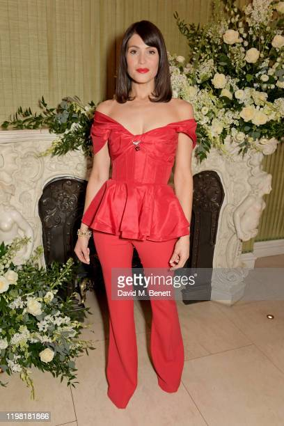Gemma Arterton attends the British Vogue and Tiffany & Co. Fashion and Film Party at Annabel's on February 2, 2020 in London, England.