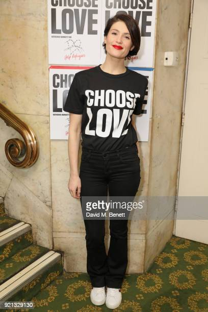 Gemma Arterton attends the Choose Love fundraiser in aid of Help Refugees at The Fortune Theatre on February 19 2018 in London England