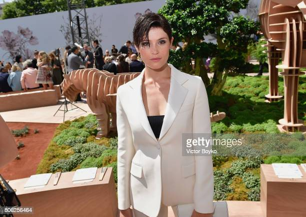Gemma Arterton attends the Christian Dior Haute Couture Fall/Winter 20172018 show as part of Haute Couture Paris Fashion Week on July 3 2017 in Paris...