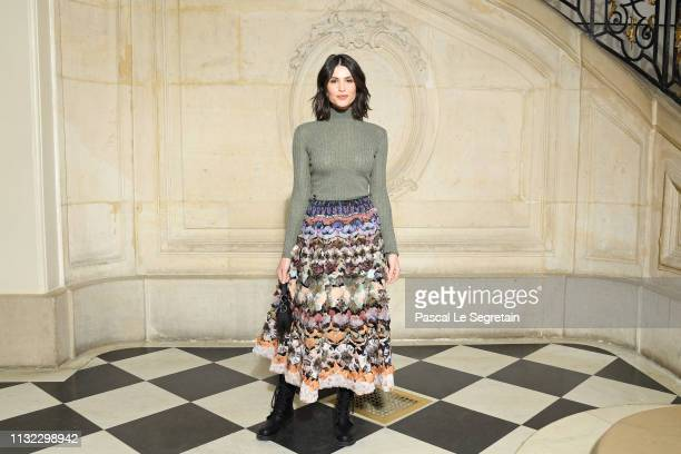 Gemma Arterton attends the Christian Dior show as part of the Paris Fashion Week Womenswear Fall/Winter 2019/2020 on February 26, 2019 in Paris,...