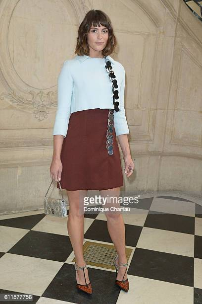 Gemma Arterton attends the Christian Dior show as part of the Paris Fashion Week Womenswear Spring/Summer 2017 on September 30, 2016 in Paris, France.
