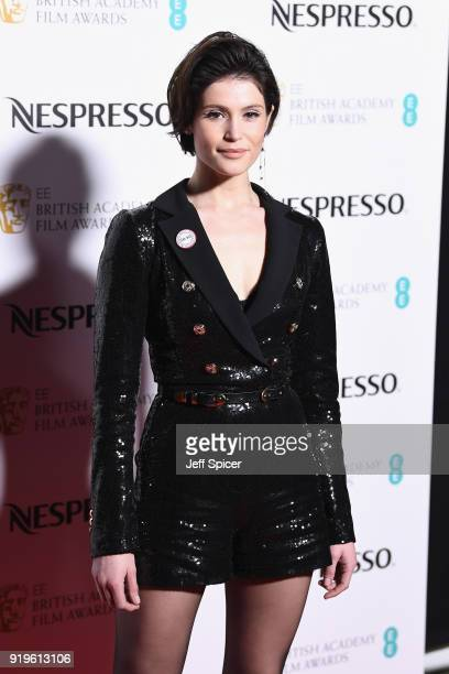 Gemma Arterton attends the EE British Academy Film Awards nominees party at Kensington Palace on February 17 2018 in London England