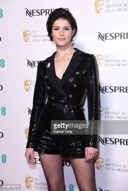 Gemma Arterton attends the EE British Academy Film Awards Nominees Party at Kensington Palace on February 17, 2018 in London, England.