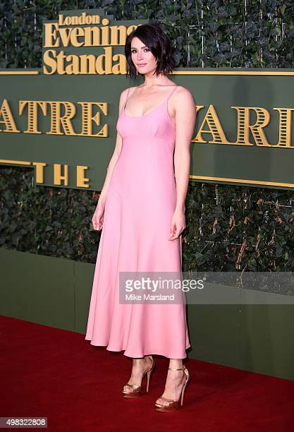 Gemma Arterton attends the Evening Standard Theatre Awards at The Old Vic Theatre on November 22 2015 in London England